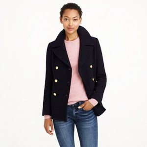 J. Crew Majesty Peacoat - Stadium Cloth Nello Gori